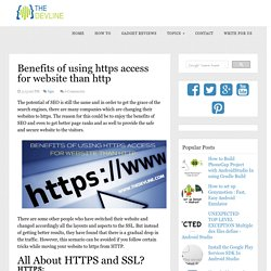 Benefits of using https access for website than http