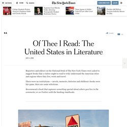 Of Thee I Read: The United States in Literature
