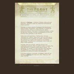 The Forge [Générateur de nom fantasy]