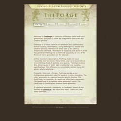 TheForge : fantasy name generator