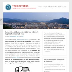 TheInnovation » Innovation et Business model sur internet : la plateforme multi-face