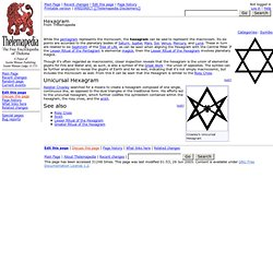 Thelemapedia: The Encyclopedia of Thelema & Magick | Hexagram