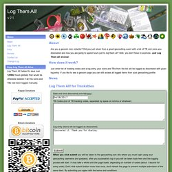 Log Them All! - Log all geocaching tracking items at once.