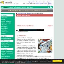 Text zum Thema Bahnhof - Lingolia Deutsch
