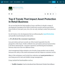 Top 4 Trends That Impact Asset Protection In Retail Business : themarcocompany — LiveJournal