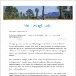 Thematic units – Mme Moghtader