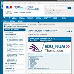 Lettre Édu_Num Thématique N°01 — Enseigner avec le numérique