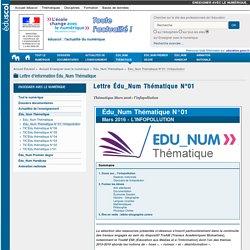 Infopollution - Lettre Édu_Num Thématique N°01 — Enseigner avec le numérique
