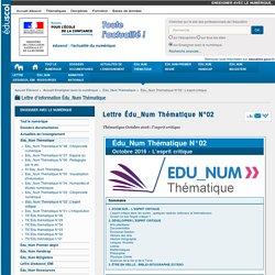 Lettre Édu_Num Thématique N°02 — Enseigner avec le numérique