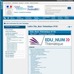 Lettre Édu_Num Thématique N°03 — Enseigner avec le numérique