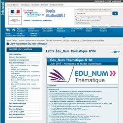 Lettre Édu_Num Thématique N°04 — Enseigner avec le numérique