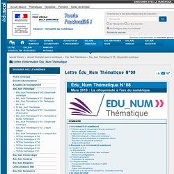 Lettre Édu_Num Thématique N°08 — Enseigner avec le numérique