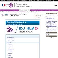 Lettre Edu'Num Thématique n°1 : L'infopollution