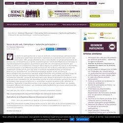 Revue de site web, thématique «recherche participative»