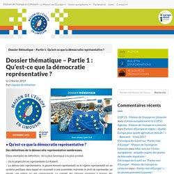 Dossier thématique - Partie 1 : Qu'est-ce que la démocratie représentative ? - Maison de l'europe en Limousin
