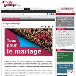 Tous pour le mariage - Dossiers thématiques - Argumentaires politiques - Nos actions