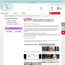 Canal-U : sciences humaines, sociales, de l'éducation et de l'information