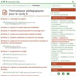 academie de poitier - Ressources pédagogiques pour le cycle 4- Technologie Collège
