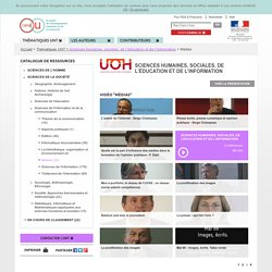 Thématiques UNT - Canal-U