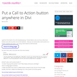 Put a Divi Call to Action button anywhere