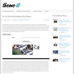 Theme It 25+ Of The Best WordPress Flat Themes - Theme It
