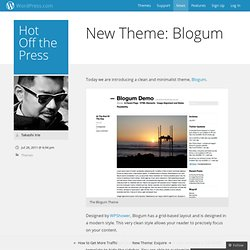 New Theme: Blogum