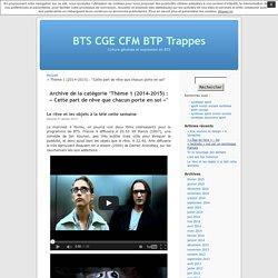 Thème 1 (2014-2015) : «Cette part de rêve que chacun porte en soi» « BTS CGE CFM BTP Trappes