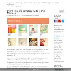 Divi theme: the complete guide to Divi Modules