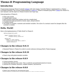 Theme-D Programming Language