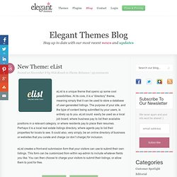 New Theme: eList- Elegant Themes Blog