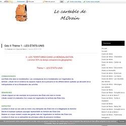 Géo II Thème 1 - LES ÉTATS-UNIS - Cartable de M. Orain 6ème 5ème 4ème