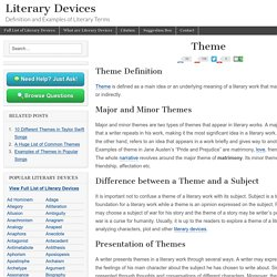 Theme - Examples and Definition of Theme