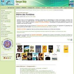 thème des frontières - Lycée Georges Duby