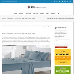 Role of Theme and Furniture in Selection of Bed Sheet - Izzz Blog