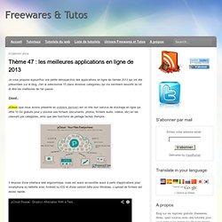 les meilleures applications en ligne de 2013