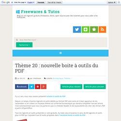 nouvelle boite à outils du PDF