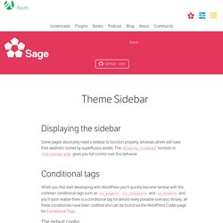 Theme Sidebar
