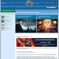 Theme Parks at Universal Orlando Resort