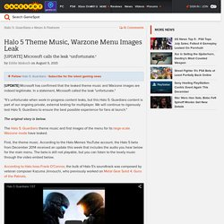 Halo 5 Theme Music, Warzone Menu Images Leak - GameSpot