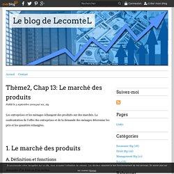 Thème2, Chap 13: Le marché des produits - Le blog de LecomteL
