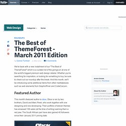The Best of ThemeForest - March 2011 Edition