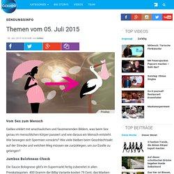 Bolognesecheck - Themen vom 05. Juli 2015 - Galileo.tv - das Online-Wissensmagazin