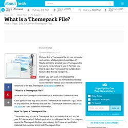 Themepack File (What It Is & How To Open One)