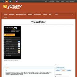 jQuery UI - ThemeRoller