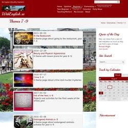 Themes 7-9 ⋆ WebEnglish.se