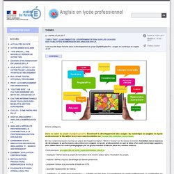 Actualités du site - Anglais en lycée professionnel