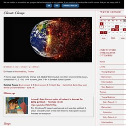 Themes ⋆ Climate Change
