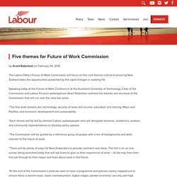Five themes for Future of Work Commission - New Zealand Labour Party