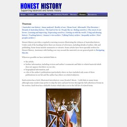 HONEST HISTORYHONEST HISTORY