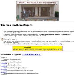 Themes mathematiques.